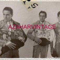 Fotografía antigua: PLAZA DE TOROS DE ALGECIRAS, EN EL CALLEJON, FOT.PARDO, SAN ROQUE,100X70MM. Lote 155291746