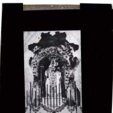 Fotografía antigua: TRIGUEROS HUELVA ANTIGUO CLICHÉ DE LA VIRGEN DEL CARMEN NEGATIVO EN CRISTAL. Lote 155411070