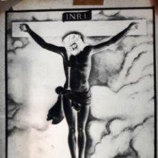 Fotografía antigua: ANTIGUO CLICHÉ DEL SANTÍSIMO CRISTO DEL CONSUELO CAZORLA JAEN NEGATIVO EN CRISTAL. Lote 155421818