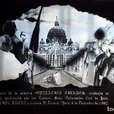 Fotografía antigua: ANTIGUOS CLICHÉS DE LA OPERACION GITANOS EL TRANCO JAEN NEGATIVO EN CRISTAL . Lote 155770622