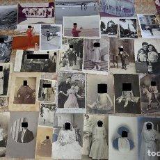 Fotografía antigua: LOTE 100 FOTOS FOTOGRAFÍAS ANTIGUAS. NIÑOS, MUJERES, ACONTECIMIENTOS. FOTÓGRAFOS MÁLAGA. 330 GR. Lote 155995606