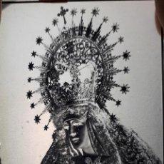 Fotografía antigua: ANTIGUO CLICHÉ DE NUESTRA SEÑORA DE LA ESPERANZA TRIANA SEVILLA NEGATIVO CRISTAL. Lote 156666514