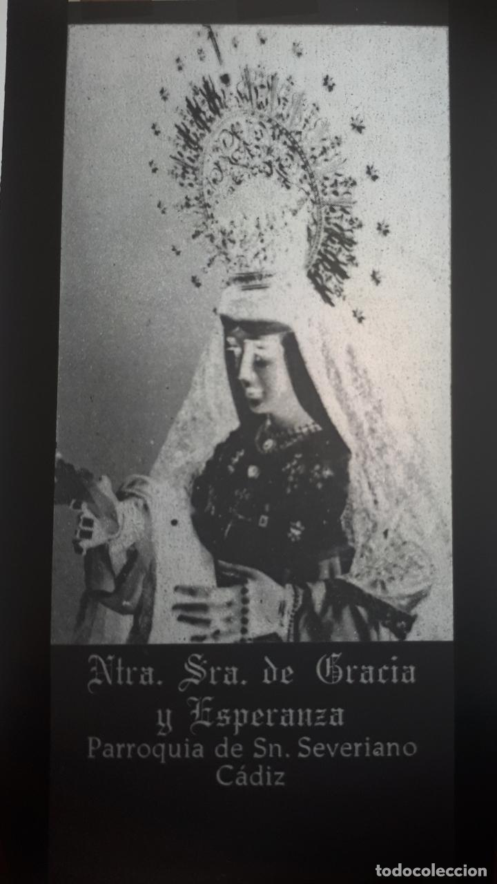 ANTIGUO CLICHÉ DE NUESTRA SEÑORA DE GRACIA Y ESPERANZA SAN SEVERIANO CADIZ NEGATIVO CRISTAL (Fotografía Antigua - Fotomecánica)