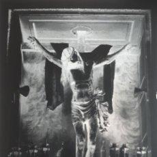 Fotografía antigua: ANTIGUO CLICHÉ DEL SANTÍSIMO CRISTO DE LAS BATALLAS PIEDRAHITA AVILA CRISTAL. Lote 156773126