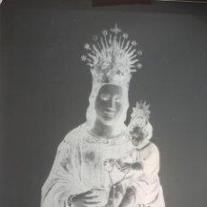 Fotografía antigua: ANTIGUO CLICHÉ DE NUESTRA SEÑORA DE LA PEANA BORJA ZARAGOZA NEGATIVO EN CRISTAL. Lote 156774058
