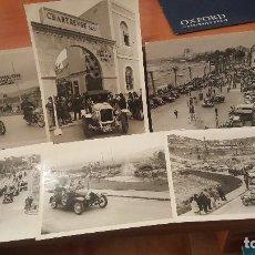 Fotografía antigua: 7 FOTOGRAFIAS DEL RALLYE COCHES DE EPOCA BARCELONA SITGES. Lote 156994382