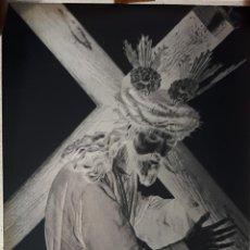 Fotografía antigua: ANTIGUO CLICHÉ DE NUESTRO PADRE JESÚS NAZARENO OSUNA SEVILLA NEGATIVO EN CRISTAL. Lote 157133370