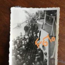 Fotografía antigua: ANTIGUA FOTOGRAFÍA MILITAR. CRUCERO CANARIAS.MARINA DE GUERRA ESPAÑOLA. MILITAR. FOTO.. Lote 157322934