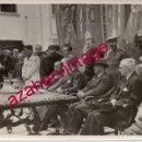 Fotografía antigua: SEVILLA, AÑOS 50, ACTO CON LA ASISTENCIA DE FRANCO Y MIEMBROS DE LA FALANGE, 165X115MM. Lote 158536666