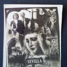 Fotografía antigua: CTC - AÑOS 50 - ANTIGUO RECUERDO DE SEVILLA CON FOTOGRAFIA VINTAGE. Lote 158762210