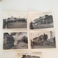Fotografía antigua - Lote de 5 fotografías originales niño y locomotora años 40-50 Bilbao - 158925134