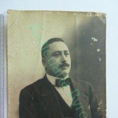 Fotografía antigua: FOTOGRAFÍA ANTIGUA ORIGINAL. CABALLERO. (10 X 7 CM). Lote 159962658