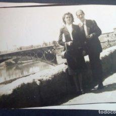 Fotografía antigua: CTC - AÑOS 50 - SEVILLA PUENTE TRIANA RIO GUADALQUIVIR - FOTOGRAFIA VINTAGE. Lote 160155542