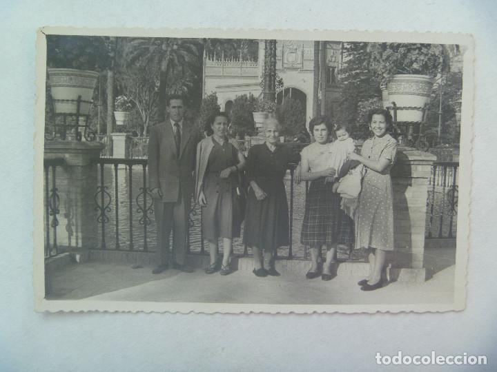 MINUTERO DEL FOTOGRAFO DEL PARQUE Mª LUISA SEVILLA : FAMILIA , 1953 (Fotografía Antigua - Fotomecánica)