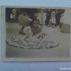 Fotografía antigua: MINUTERO DE FOTOGRAFO DE FERIA : NIÑA VESTIDA DE FLAMENCA . Lote 160356670