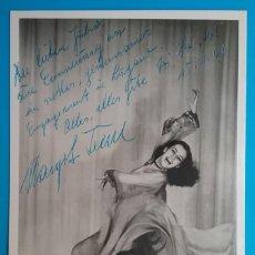 Fotografía antigua: MARGOT IRENE ARTISTA VARIEDADES POSTAL FOTOGRÁFICA DEDICADA Y FIRMADA 1960. Lote 160360962