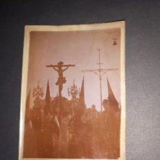 Fotografía antigua: ANTIGUA FOTOGRAFÍA DEL CRISTO DE LA EXPIRACIÓN CACHORRO A SU PASO POR EL PUENTE TRIANA SEVILLA 1929. Lote 160540766