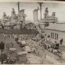 Fotografía antigua: PUERTO RICO. 1945. VISITA DEL BUQUE DE GUERRA USS. LITTLE ROCK. LOTE DE 3 FOTOS. GRAN TAMAÑO. Lote 160586294