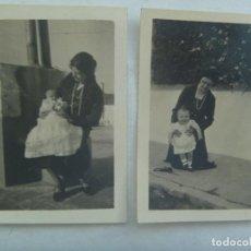 Fotografía antigua: LOTE DE 2 FOTOS DE JOVEN MADRE CON BEBE, PRINCIPIOS DE SIGLO. Lote 161966122