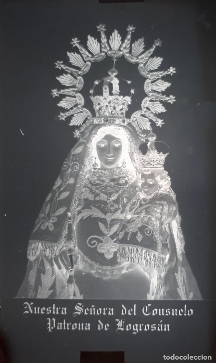 ANTIGUO CLICHÉ NUESTRA SEÑORA DEL CONSUELO LOGROSAN CACERES NEGATIVO EN CRISTAL (Fotografía Antigua - Fotomecánica)