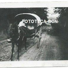 Fotografía antigua: FOTO ORIGINAL CARRO Y CONDUCTOR RIERA DE CAN RIMBLAS CANYAMARS DOSRIUS MARESME AÑO 1943. Lote 163553782