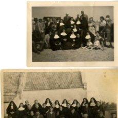 Fotografía antigua: MONJAS CONJUNTO 2 FOTOS 1 130 X 80 Y 75 X 105 MM SIN FECHA NI SITIO . Lote 163709182