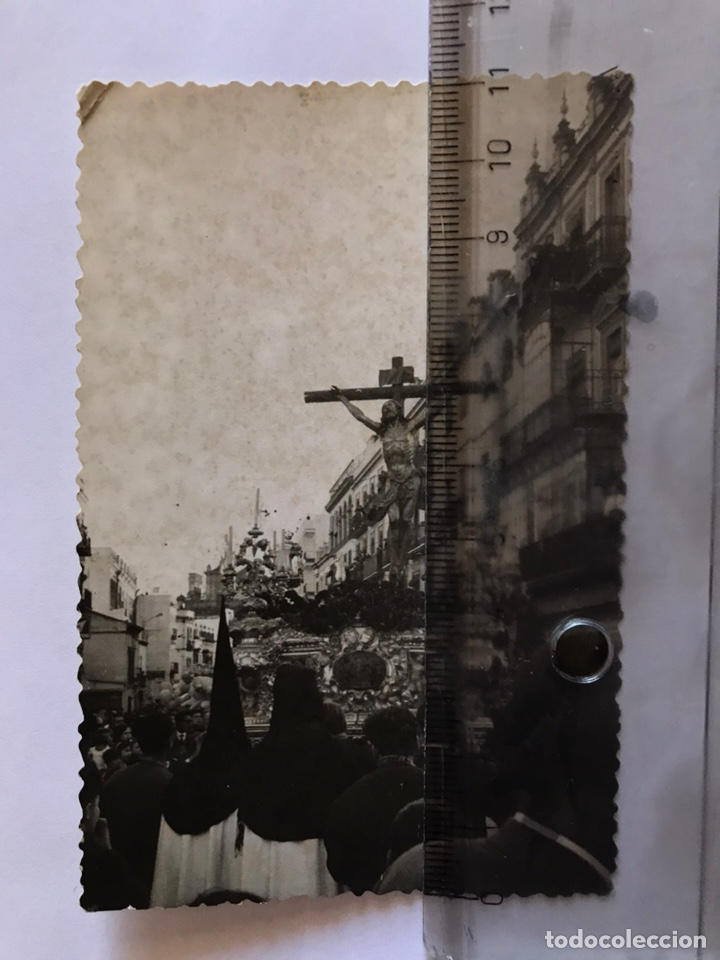 SEMANA SANTA SEVILLA. CRISTO DE LA EXPIRACIÓN. HERMANDAD DEL CACHORRO. TRIANA. (Fotografía Antigua - Fotomecánica)