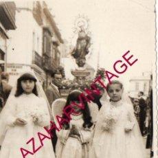 Fotografía antigua: SEVILLA, AÑOS 60, CORPUS DE TRIANA, 90X140MM. Lote 163860178