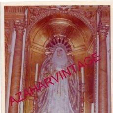 Fotografía antigua: SEMANA SANTA SEVILLA, ANTIGUA FOTOGRAFIA VIRGEN DE LOS DOLORES, SANTA CRUZ, 128X178MM. Lote 164049410