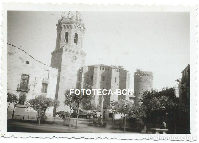 FOTO ORIGINAL TREMP VISTA DE LA IGLESIA AÑO 1952 (Fotografía Antigua - Fotomecánica)
