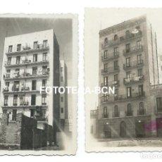 Fotografia antica: 2 FOTOS ORIGINALES BARCELONA DESPARECIDA EDIFICIO CALLE CRISTOBAL MOURA NUM 50 POBLE NOU AÑO 1934. Lote 164231526