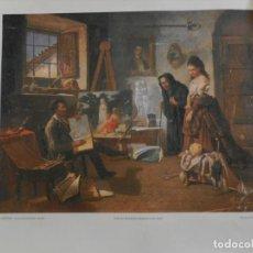Fotografía antigua: LÁMINA 'EL PINTOR' - RAFAEL ROMERO BARROS - ENMARCABLE - 34 X 42 CM - ED. HEINEKEN. . Lote 164975670