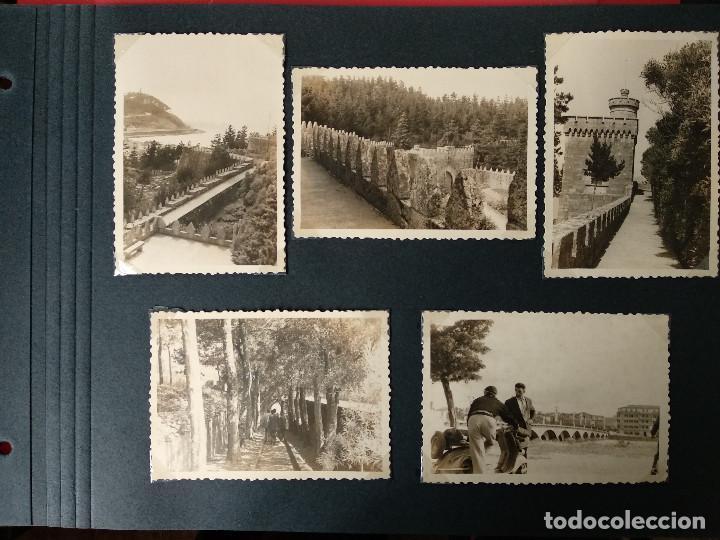 LOTE 5 FOTOGRAFIAS DE BAYONA. PONTEVEDRA. GALICIA. AÑO1957. (10CM X 7CM). (Fotografía Antigua - Fotomecánica)