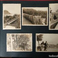Fotografía antigua: LOTE 5 FOTOGRAFIAS DE BAYONA. PONTEVEDRA. GALICIA. AÑO1957. (10CM X 7CM).. Lote 165058278