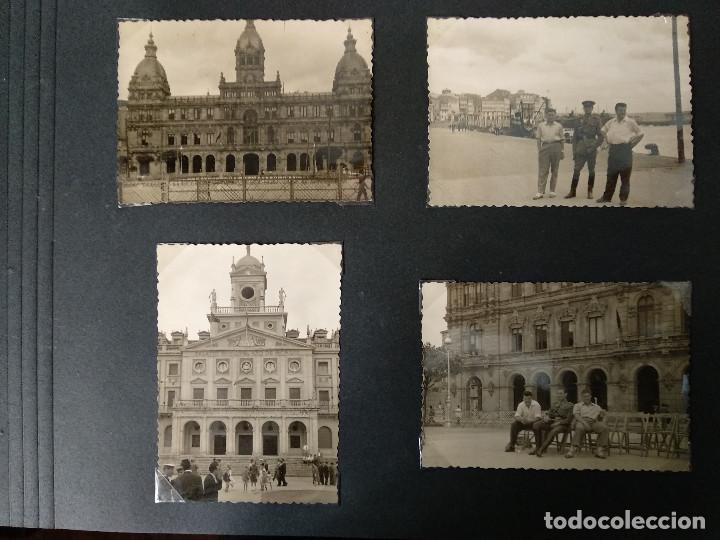 LOTE 4 FOTOGRAFIAS DE A CORUÑA. GALICIA. AÑO1957. (10CM X 7CM). MILITAR.. (Fotografía Antigua - Fotomecánica)