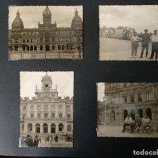 Fotografía antigua: LOTE 4 FOTOGRAFIAS DE A CORUÑA. GALICIA. AÑO1957. (10CM X 7CM). MILITAR... Lote 165058434