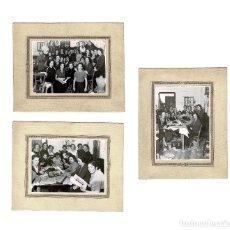 Fotografía antigua: MADRID.- 3 FOTOGRAFÍAS MODISTAS. DISEÑADORAS.COSTURERAS. FOTO AIDA. 25 X 20 CM. Lote 165263810