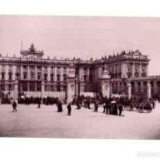 Fotografía antigua: MADRID.- PLAZA DE ARMAS. HAUSER Y MENET. COMISARÍA REGIA DEL TURISMO.- 22 X 15. Lote 165269474