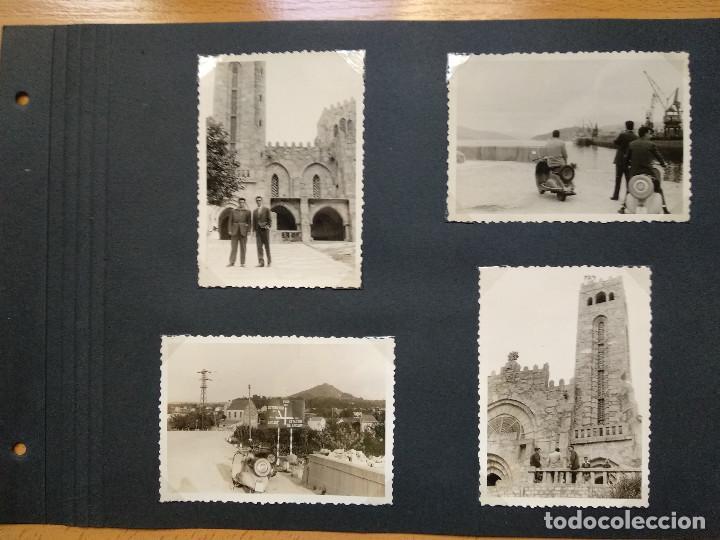 LOTE 4 FOTOGRAFIAS ZONA VIGO... ARCADE... PONTEVEDRA..GALICIA.... AÑO1957. (10CM X 7CM). (Fotografía Antigua - Fotomecánica)