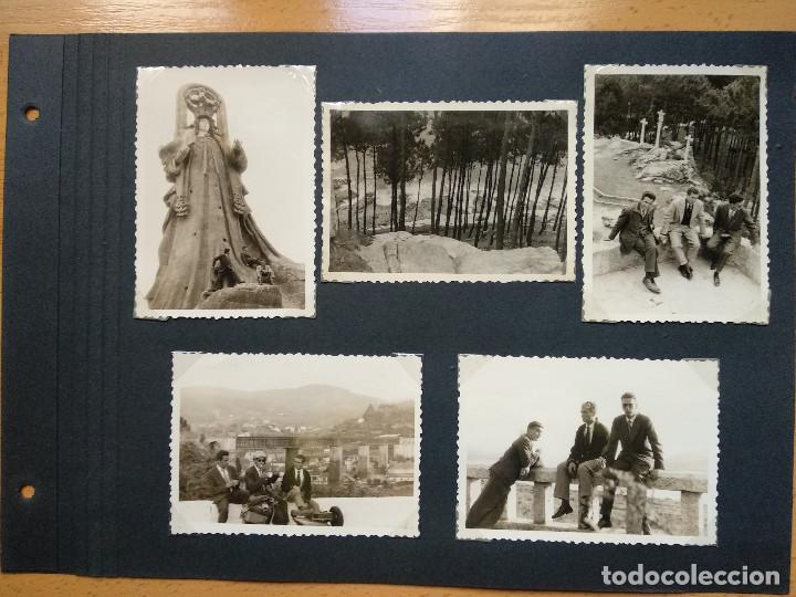 LOTE 5 FOTOGRAFIAS ZONA BAYONA... PONTEVEDRA..GALICIA.... AÑO1957. (10CM X 7CM). (Fotografía Antigua - Fotomecánica)
