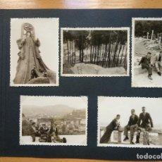 Fotografía antigua: LOTE 5 FOTOGRAFIAS ZONA BAYONA... PONTEVEDRA..GALICIA.... AÑO1957. (10CM X 7CM).. Lote 165339538