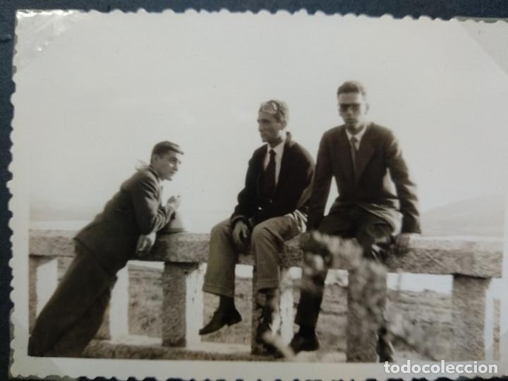Fotografía antigua: LOTE 5 FOTOGRAFIAS ZONA BAYONA... PONTEVEDRA..GALICIA.... AÑO1957. (10cm x 7cm). - Foto 6 - 165339538