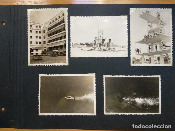 LOTE 5 FOTOGRAFIAS ZONA LA TOJA.. PONTEVEDRA... GALICIA. AÑO1957. (10CM X 7CM). (Fotografía Antigua - Fotomecánica)