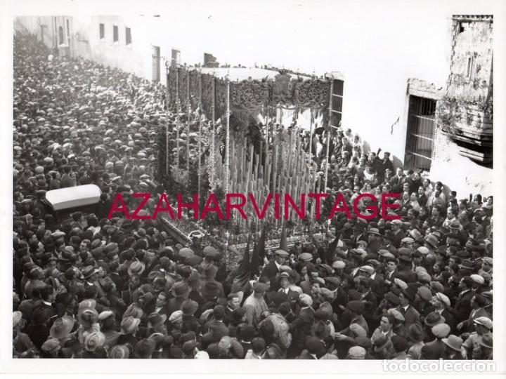 SEMANA SANTA SEVILLA, AÑOS 20, LA ESPERANZA DE TRIANA,240X180MM LEER (Fotografía Antigua - Fotomecánica)