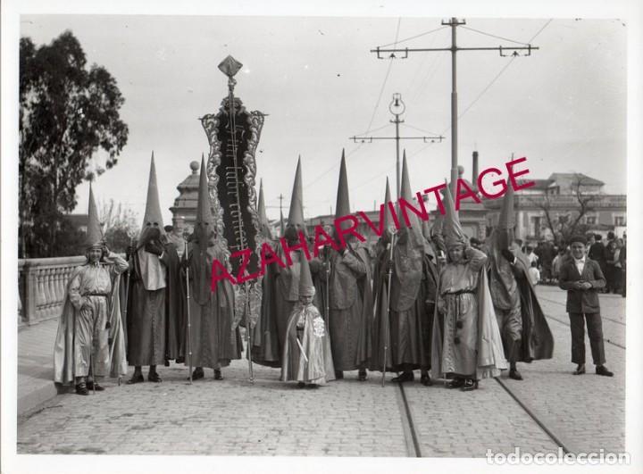 SEMANA SANTA SEVILLA, AÑOS 20,COFRADIA DE SAN BERNARDO, 240X180MM, LEER (Fotografía Antigua - Fotomecánica)