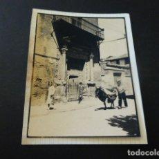 Fotografía antigua: HUESCA ESCENA FOTOGRAFIA AL CARBON 1935 POR ROBERT GILLON PRESIDENTE SENADO BELGICA. Lote 165749026