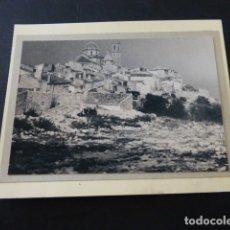 Fotografía antigua: ALTEA ALICANTE VISTA FOTOGRAFIA AL CARBON 1935 POR ROBERT GILLON PRESIDENTE SENADO BELGICA. Lote 165749178