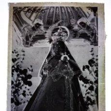 Fotografía antigua: CÁCERES ANTIGUO CLICHÉ DE VIRGEN DE DIONISIO LÓPEZ NEGATIVO EN CRISTAL. Lote 166031770