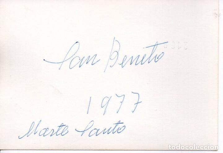 Fotografía antigua: SEMANA SANTA SEVILLA, 1977, PASO MISTERIO HERMANDAD DE SAN BENITO,105X75MM - Foto 2 - 166379282
