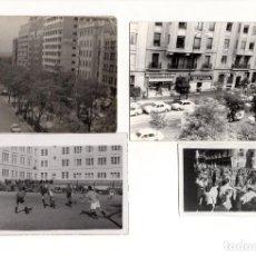 Fotografía antigua: MADRID.- 4 FOTOGRAFÍAS. SEMANA SANTA. COLEGIO FOOTBALL. CALLES. Lote 166699774